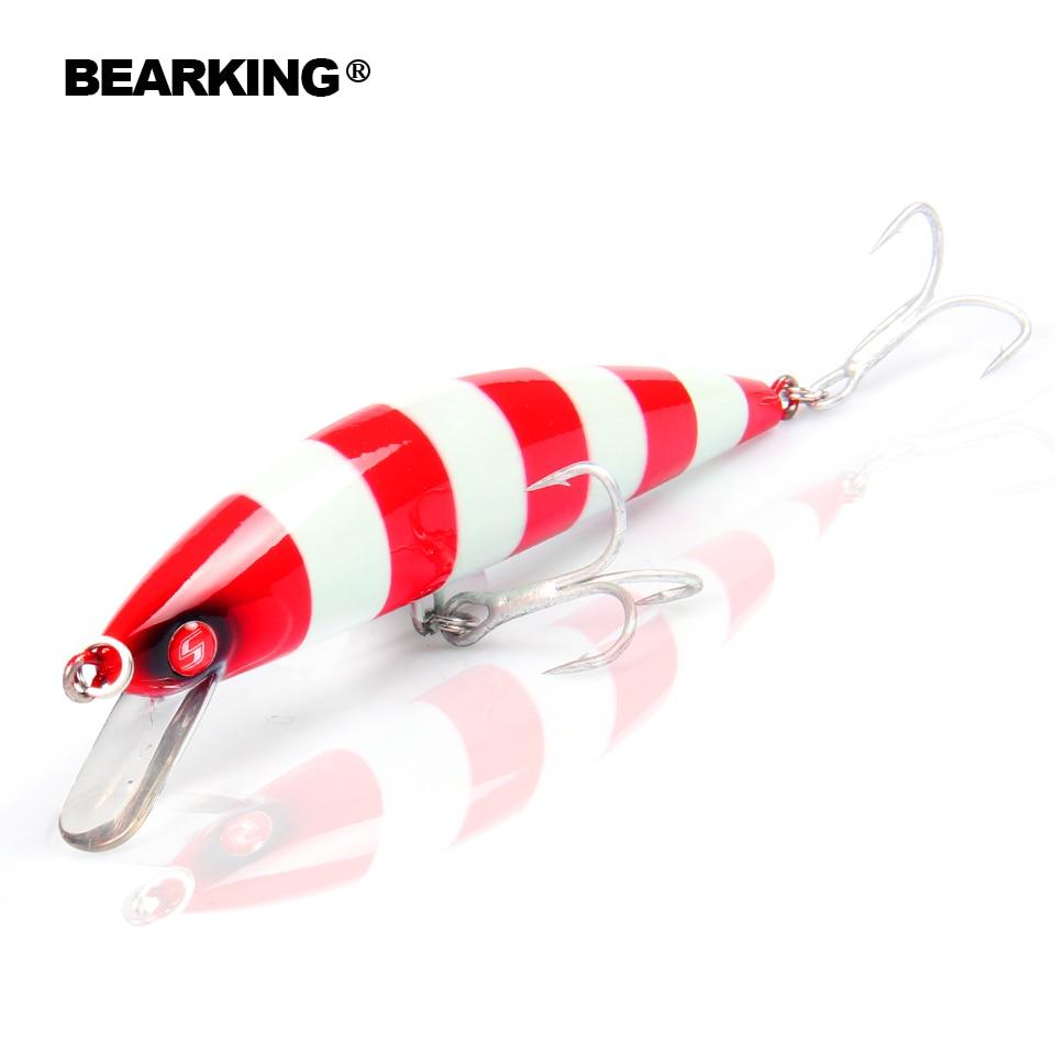 Bearking marca 1 PZ 12 cm 40g Duro Richiamo di Pesca Manovella Esca super affondamento Lago Fiume Pesca Wobblers Esche Da Pesca Alla Carpa