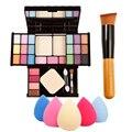 Combinação Paleta de Maquiagem profissional Kits de Presente Set + Esponja Sopro Sopro de Pó Escova Enviar Por Acaso