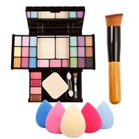 Professional Makeup Palette Combination Gift Kits Set Sponge Puff Powder Brush Send By Random GUB