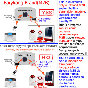 Image 4 - אלחוטי GSM מערכת אזעקת 433MHz בית פורץ אבטחת אזעקת דלת חיישן תנועת חיישן אזעקות אנדרואיד IOS APP אינטרקום סירנה
