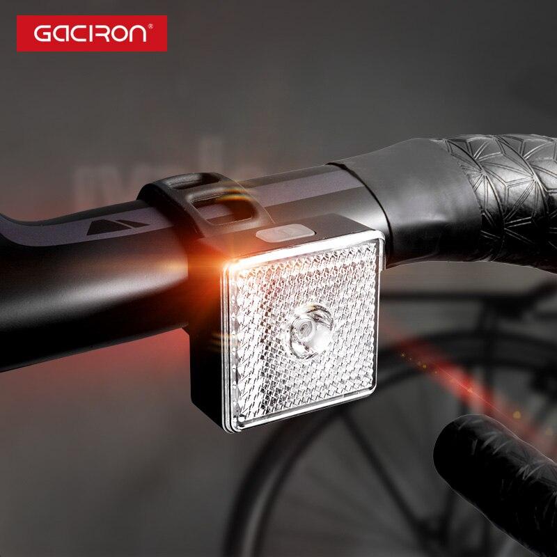 GACIRON 80 Lumen Smart Bike Light Bicycle Front Rear Warning Light Waterproof Spotlight Floodlight Night Riding Safety Taillight