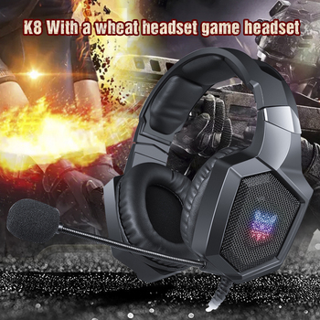 ONIKUMA K8 PS4 Gaming Headphones casque PC Stereo Gaming Headset with Microphone LED Light for Laptop Tablet/Xbox One Gamer