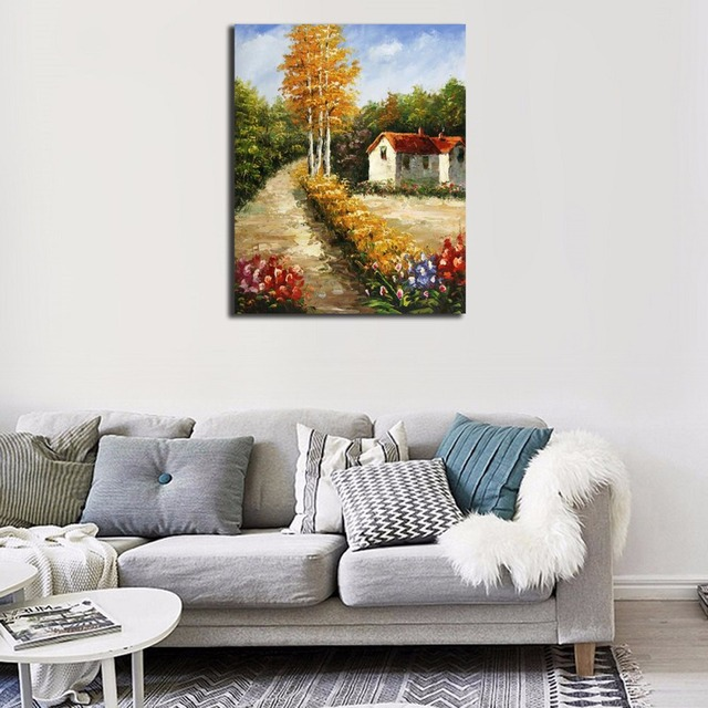 Framed Scenery DIY Painting By Numbers Paint On Canvas Kit Acrylic ...
