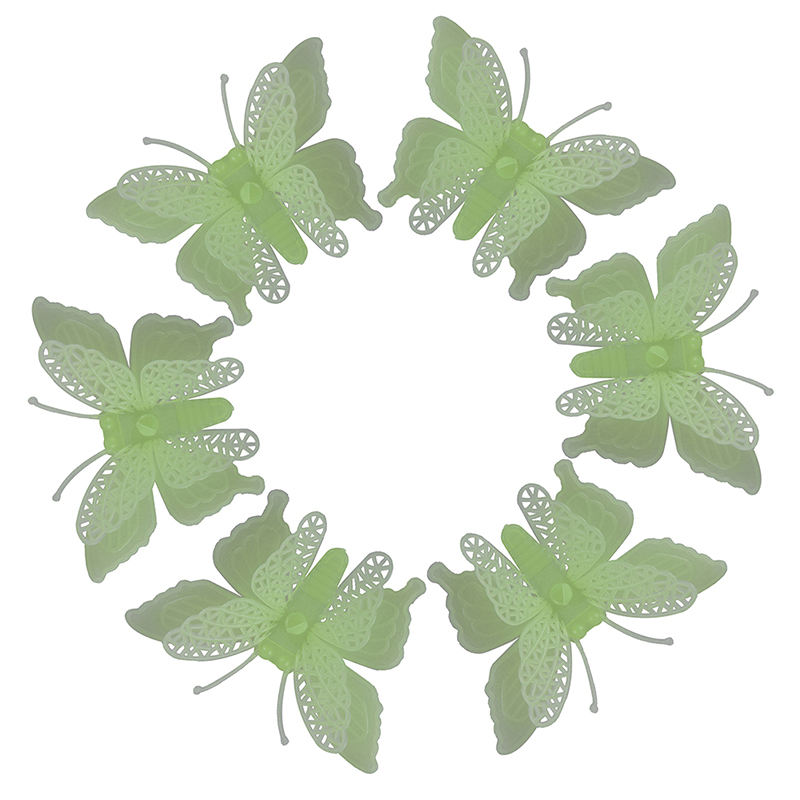 6Pcs/set Luminous Butterfly Glow In The Dark Toy Baby Nursery Children Gifts