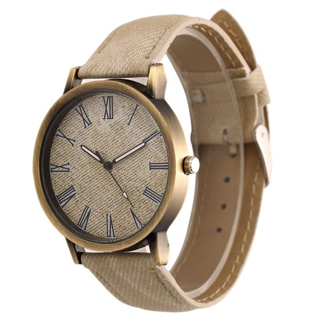 New Fashion Women Men Wristwatch Jean Fabric Clock Sports Watches Analog Quartz Watch For Women Female Clock