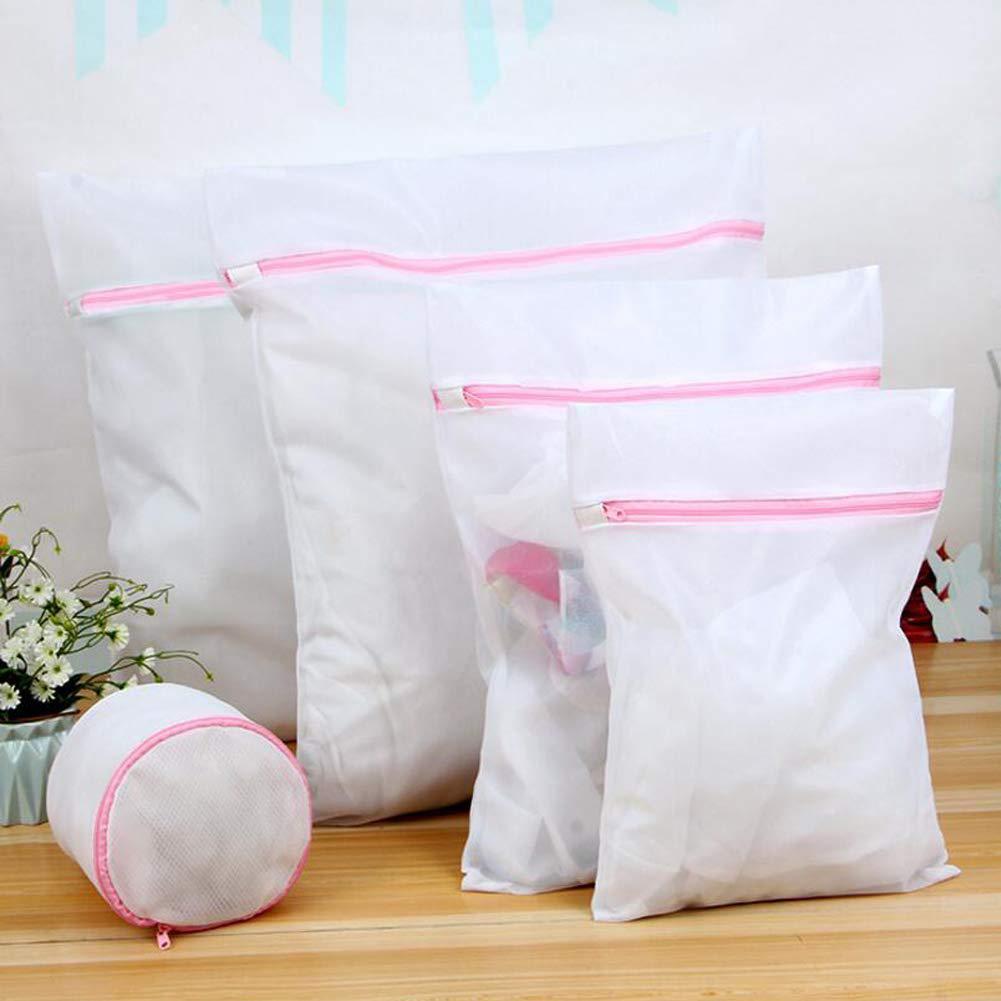 NEW 5Pcs Clothes Bra Underwear Socks Laundry Bags Reusable Mesh Net Washing Pouch Foldable Protection Net Wash Bag Pouch Basket