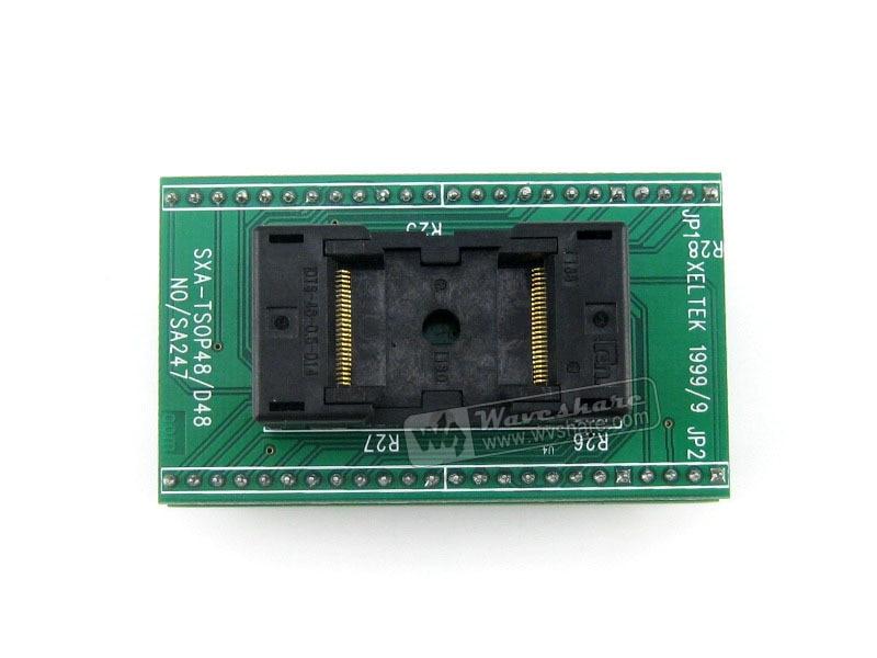 Modules OTS-48-0.5 Yamaichi TSOP48 TO DIP48 (B) IC Test Socket Programming Adapter 0.5mm Pitch modules qfp144 lqfp144 stm32f10xz stm32l1xxz stm32f2xxz stm32f4xxz yamaichi stm32 ic test socket adapter 0 5mm pitch