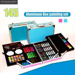 145in1 Kleur Kleurpotloden Aquarel Set Voor Kids Art Set Voor Kinderen Kwaliteit Kinderen Schoolbenodigdheden Kunstenaar Pennenbakje Stationaire