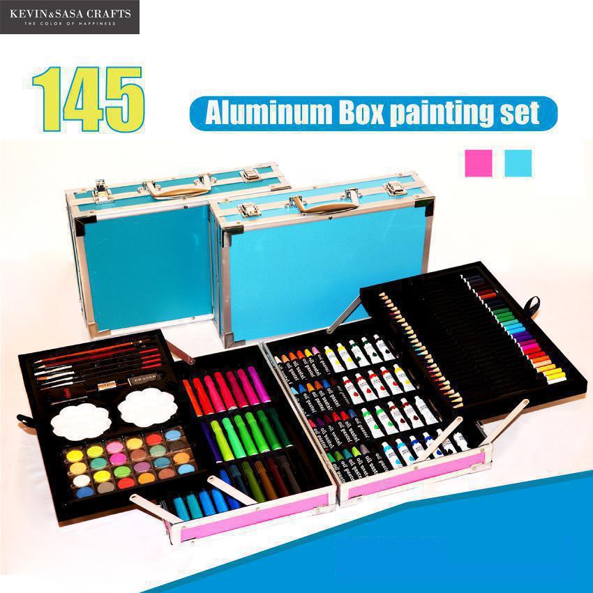 145in1 couleur Crayons aquarelle ensemble pour enfants Art ensemble pour enfants qualité enfants fournitures scolaires artiste crayon boîte stationnaire