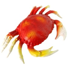 Gresorth 9 x 5 inch Big Artificial Crab Decoration Fake Sea Creatures for Home Party Christmas Display Kids Play Toy