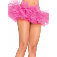 Abbille Top Quality Layers Adult Women Tutu Tulle Skirt Petticoat Dance Neon Party Halloween For Clubwear