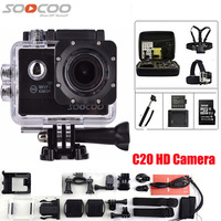 SOOCOO C20 Action Camera Full HD DV 12MP 1080P 60fps Waterproof WIFI 170 Wide Angle Sport