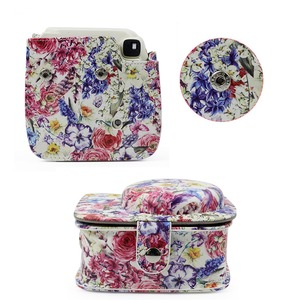 Image 5 - Oil Painting Rose PU Leather Instant Camera Shoulder Bag Protector Cover Case Pouch for Fujifilm Instax Mini 9 Case mini 8 8+