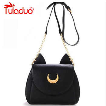 2019 New Summer Limited Sailor Moon Chain Shoulder Bag Ladies Luna Cat PU Leather Handbag Women Messenger Crossbody Small Bag - DISCOUNT ITEM  47% OFF All Category