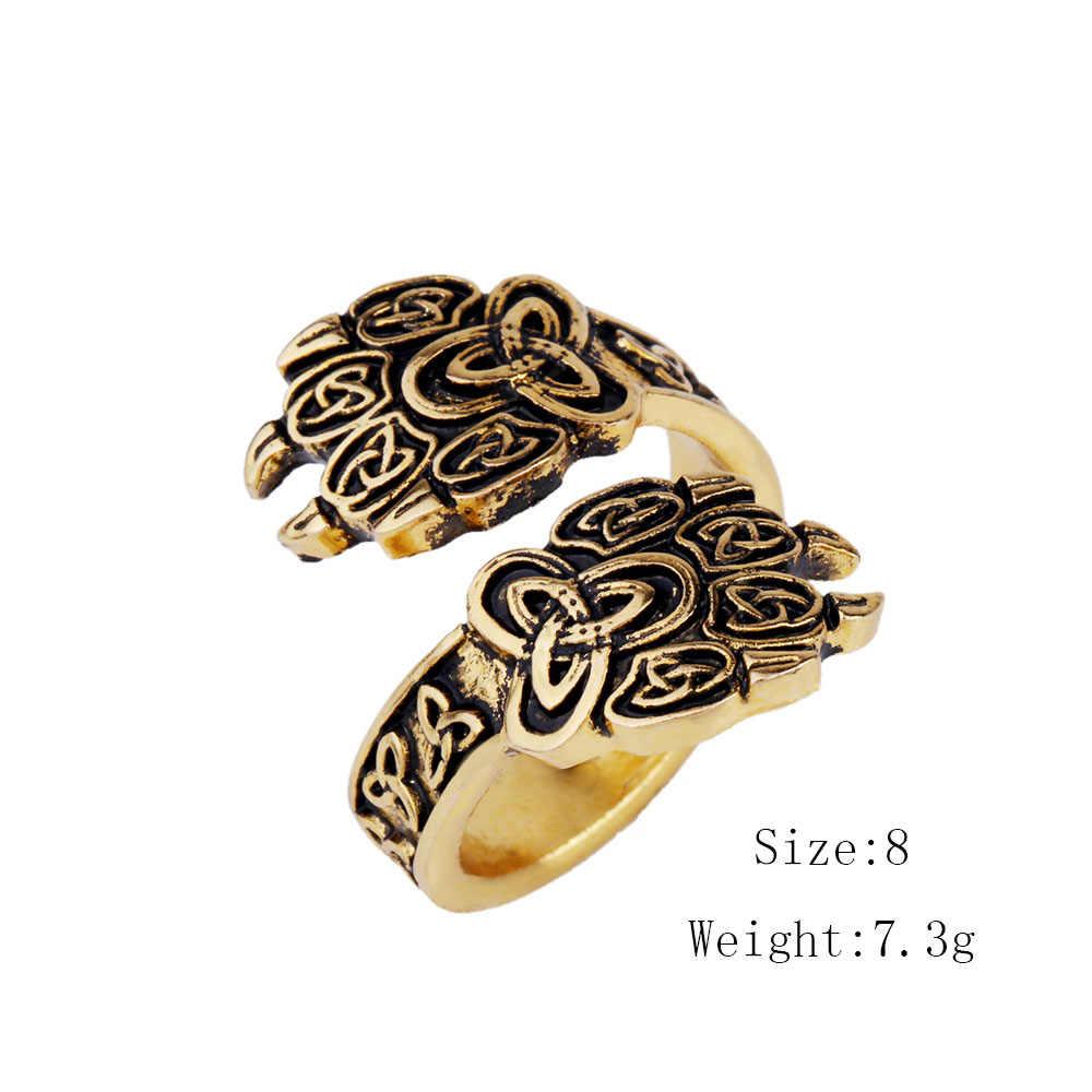 Dawapara Vintage Wolf Paw Nhẫn Punk phong cách cặp vợ chồng cưới nhẫn set vàng cho nam giới viking đồ trang sức thời trang nhẫn 1 pcs thả vận chuyển