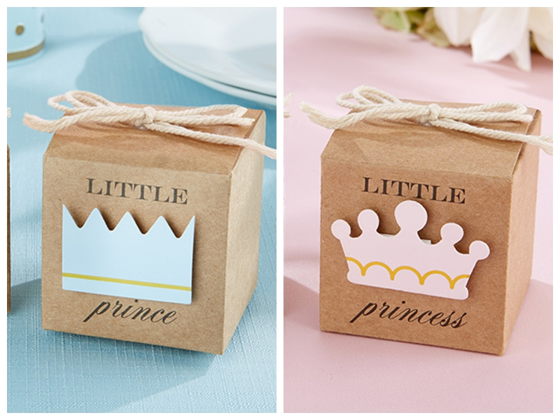 50pcs lot cute baby souvenirs of little prince kraft for Application box decoration