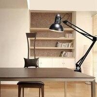E27 110V 220V Foldable Long Arm Desk Lamp Iron Morden Reading Lamps Led Table Clip