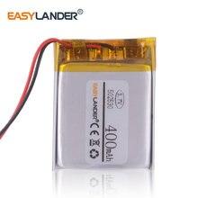 3.7V 502530 400 mah akumulator litowo-polimerowy wideorejestrator Navigator dvr rejestrator słuchawki