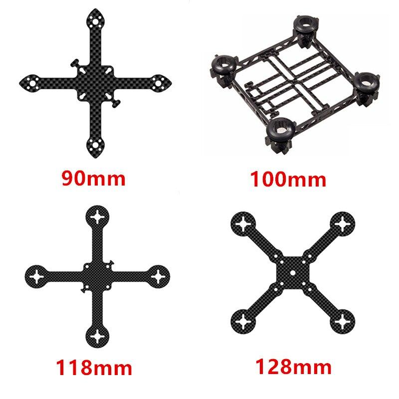 RJXHOBBY Micro Carbon Fiber Quadcopter Main Frame Kit Tiny QX100 90mm 100mm 118mm 128mm for Mini Micro Tiny Frame Carbon Fiber 90mm frame kit