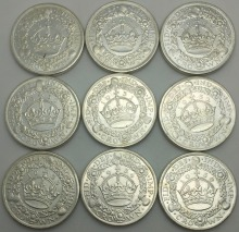 United Kingdom Coins 1929 1934 1930 1928 1933 1931 1927 1936 1932 Different Years Britain Crown Brass Silver Plated Copy Coin