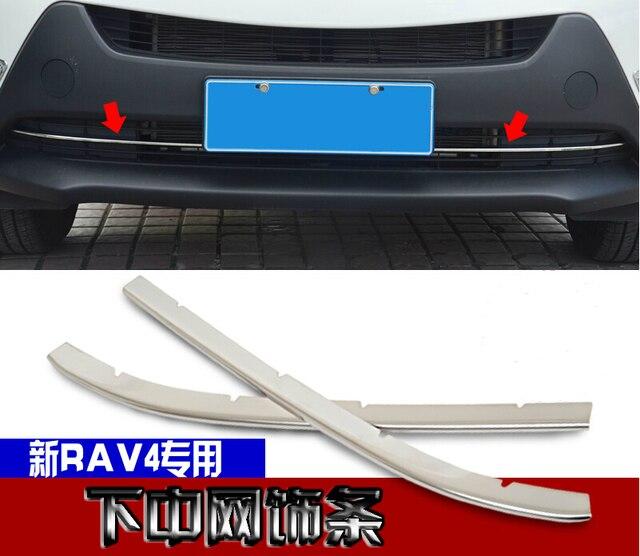 Front grille trims for Toyota RAV4 2014 2015,ABS chrome,2pcs/set ,auto accessories