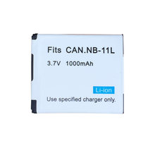 1 PC 3.7 V 1000 mAh NB-11L Batterie NB 11L NB11L Pour Canon A2600 A3500 A4000IS IXUS 125 132 140 240 245 265 155 HS(China)