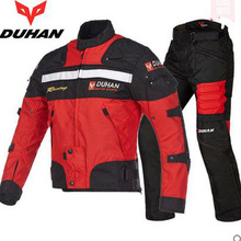 DUHAN motorcycle jacket&pants for racing Motocross Jaqueta Waterproof Windproof Clothing with Protecter Detachable Cotton Liner