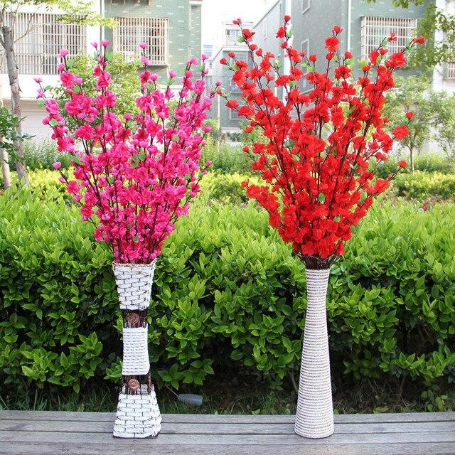 15 Pcs Lot Artificial Sakura Silk Flowers Cherry Blossom Wedding Home Decor