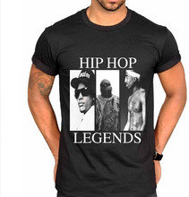 521f6c19b Hip Hop Legends N.W.A Graphic T-shirt Clothing 2 Pac Biggie Smalls Eazy E  Tupac Tees Shirt Mens Black Plus Size