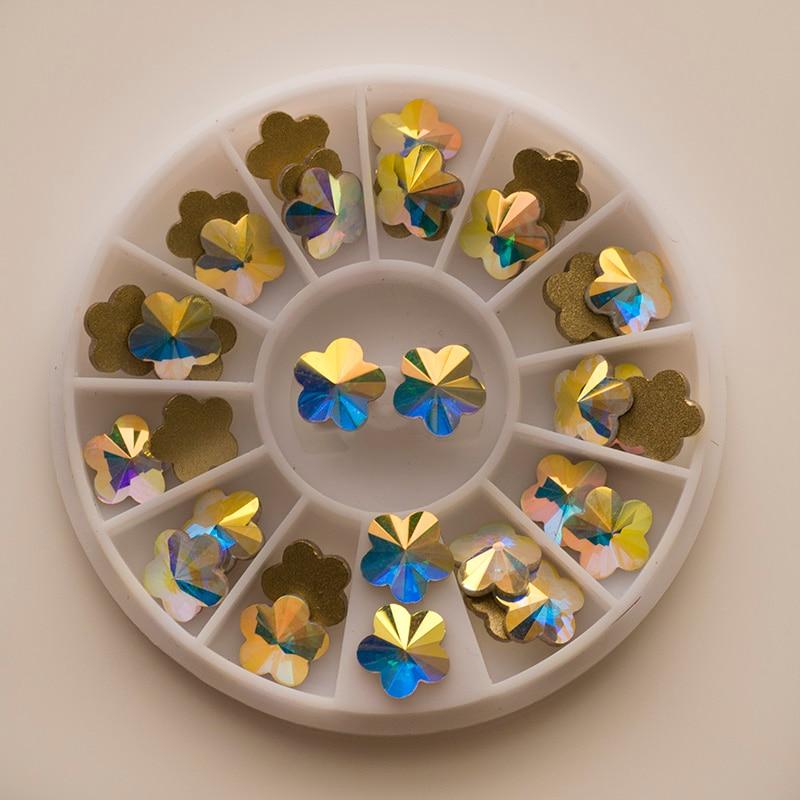YANRUO 72pcs 6mm # 252560 Crystal AB 3D Plum blossom Nail art - Arte de uñas - foto 5