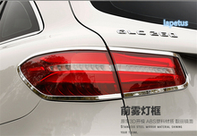 цена на new accessories For Mercedes Benz GLC X205 2015 2016 ABS Rear Tail light Cover Molding Trim