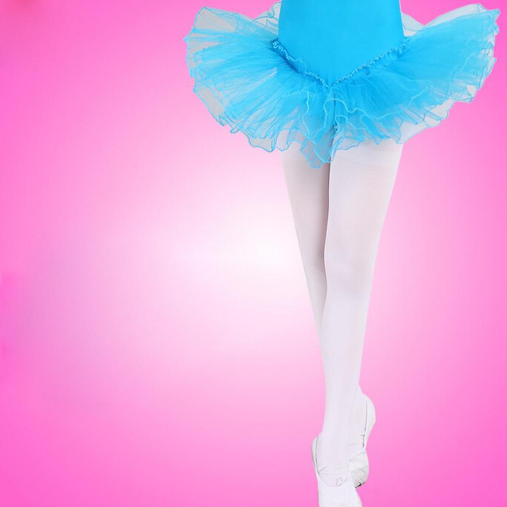 White Kids Girls Dance Sock Panties Hose Ballet Socks