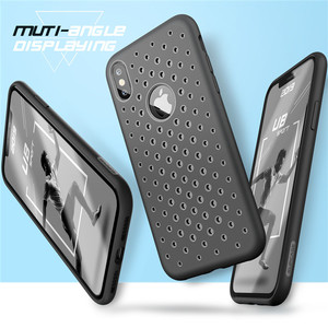"""Image 3 - SUPCASE dla iPhone Xs Max Case 6.5 """"UB Sport płynna guma silikonowa Premium PC hybrydowy wzór pokrywy otworu z rozpraszaniem ciepła"""