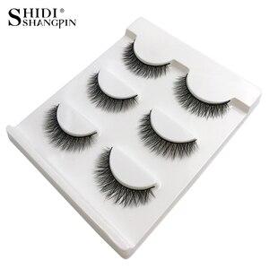 Image 2 - SHIDISHANGPIN 1 box mink eyelashes natural long 3d mink lashes short  Cross Messy false eyelash 8mm 3 pairs mink eyelashes X05
