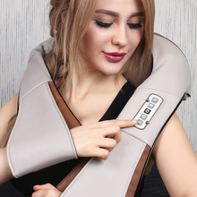 Home health care instrument Chinese body massage device/Neck Massager Red-light Heating kneading massage shawl /120804
