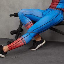 Spiderman 3D Printed Compression Tights Pants Men Fitness Trousers