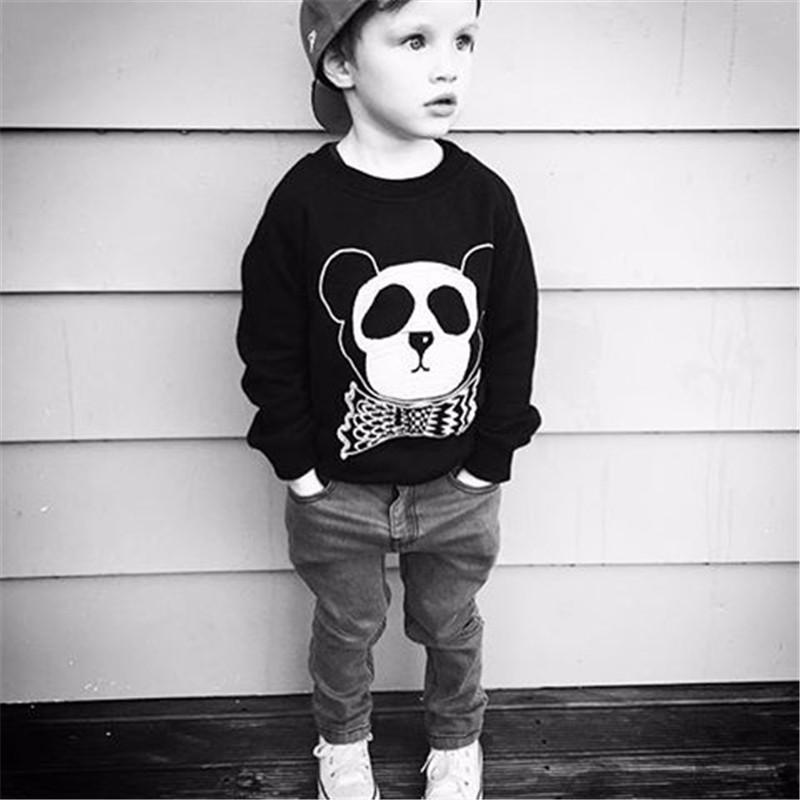 11For Boys Girls Sweater T-Shirts Clothes Autumn Winter New Panda Bear Printing Tops Kids Sweatershirt  Tees Clothing Full Sleeve 09