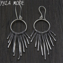 Fashion 925 Sterling Silver Earrings Jewelry Tassel Earrings Pendientes Brincos brincos de prata