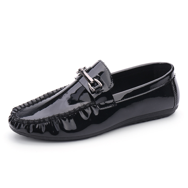 Genuine Leather Shoes Men Loafers High Quality Casual Flats Fashion Men Leather Shoes Black Mens Shoes Large Sizes
