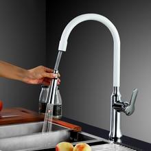 Высокое Качество Pull out Вниз Кухонный Кран Смеситель 360 поворотный одной ручкой кухонный кран смеситель латунный cozinha