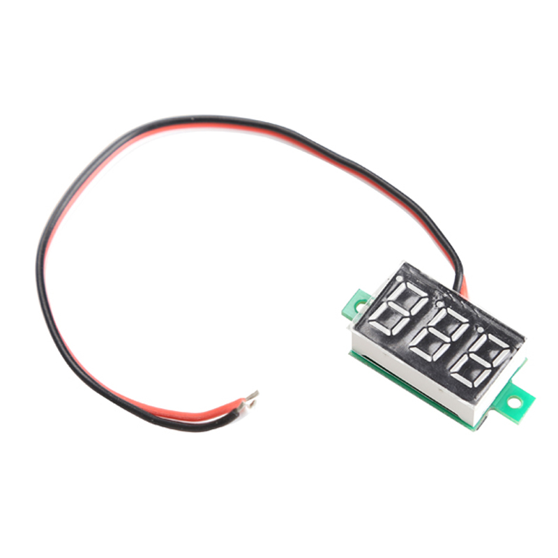 Blue/Green Light Display Mini Digital Voltmeter DC0-100V LED Panel Voltage Meter with Three Wires