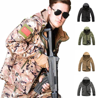 TAD Softshell Sharkskin Jacket Tactical Camoufalge Hunting Jacket Windproof Winter Thermal Jacket Men Sport Waterproof Clothes