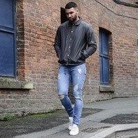 Men S Jeans Super Stretch Denim Jeans Destroyed Slim Fit Pants New Jeans Mens Fashion Denim
