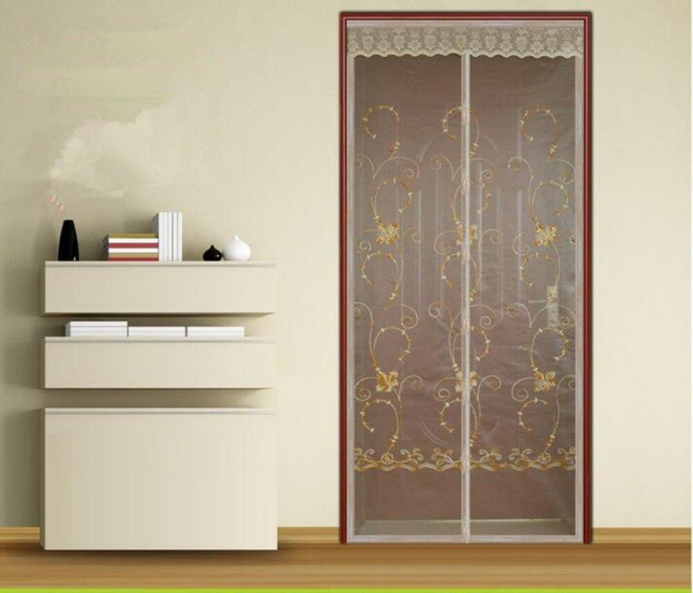 Fuya Magnetic Door Screen Mesh Sheer Door Curtain Anti Mosquito Net