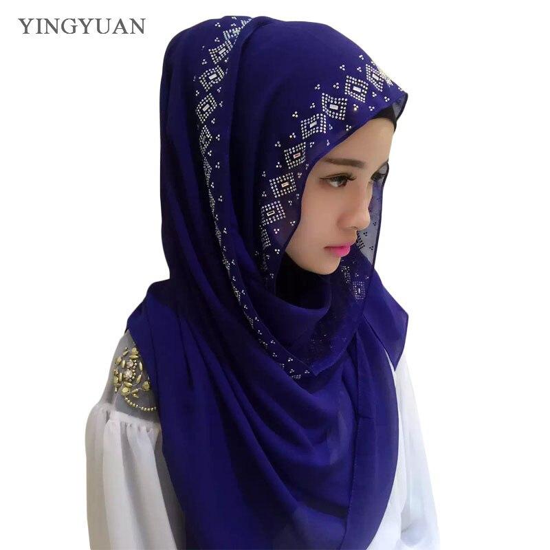 CJ118 180*70cm Middle East hot drilling Austria muslim hijabs scarf fashion beautiful women of scarves (no underscarf)