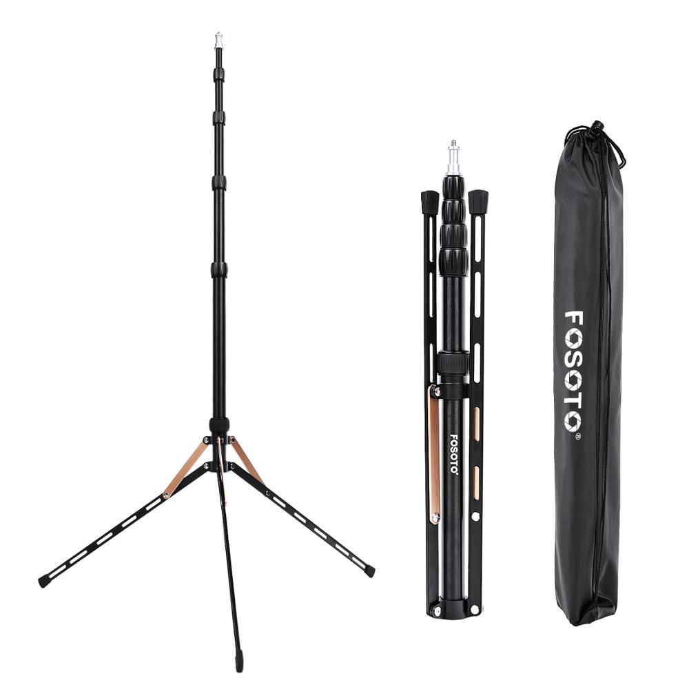Fusitu FT 190B 2.2m Led Light Stand Portable Tripod Head Softbox For Photo Studio Photographic Light Flash Umbrellas Reflector-in Live Tripods from Consumer Electronics