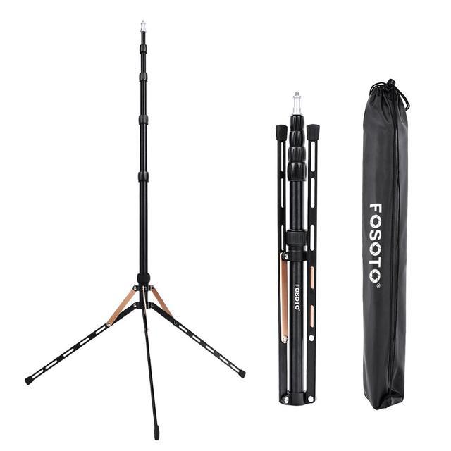 Fusitu FT 190B 2.2m Led ışık standı taşınabilir Tripod kafası Softbox fotoğraf stüdyosu fotoğrafik işık flaş şemsiye reflektör