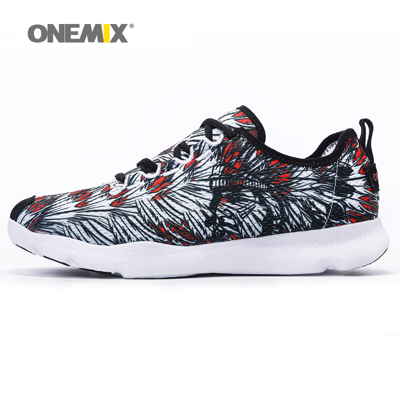 ONEMIX Man Running Shoes For Men Breathable Athletic Trainers Black Zapatillas Sports Shoe Outdoor Walking Sneakers Free Ship men running shoes breathable summer spring leather walking sports shoes lightweight trainers athletic sneakers m41108