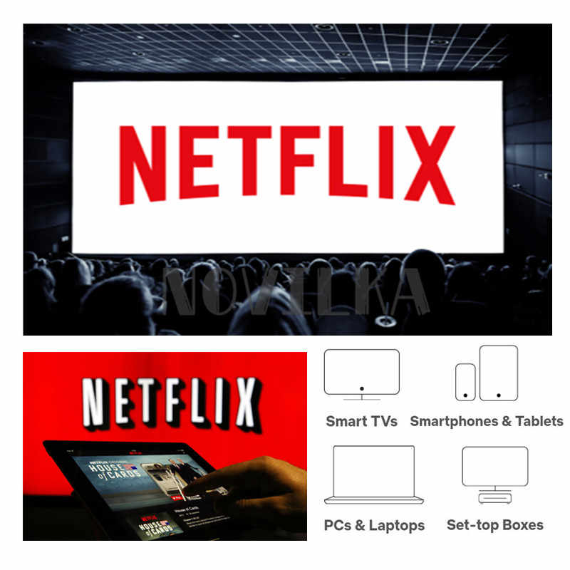 Netflix Account 1 Month 4K Quality HD Using for Smart TV Set Top Box Android IOS Phones TV Stick With 1 Month Warranty 4 Screen