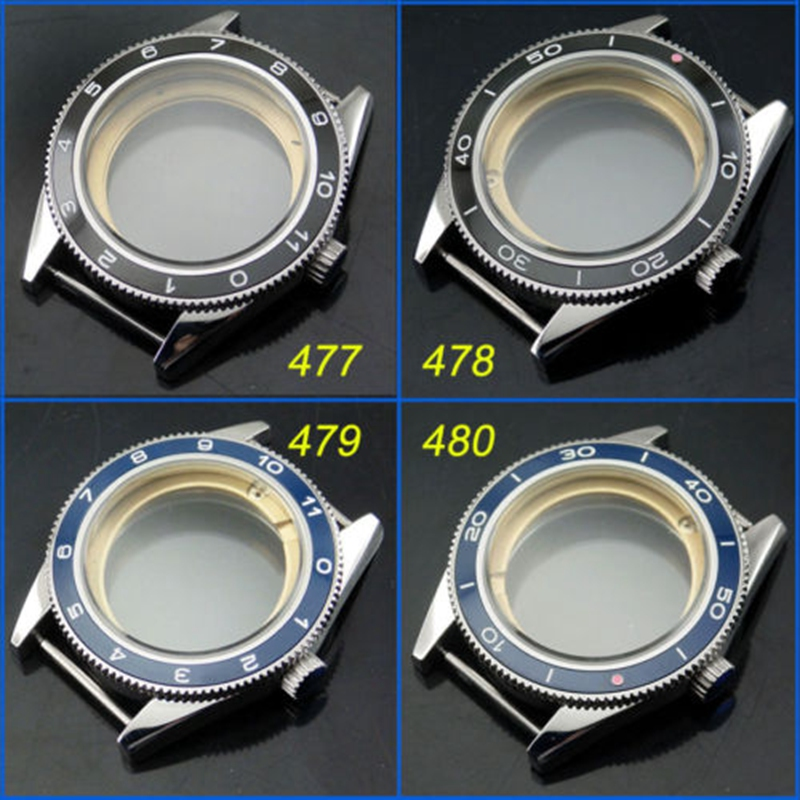 41mm Sapphire Ceramic bezel watch Case fit Miyota 8205/8215,ETA 2836/2824 DG2813 42mm pvd coated case black aluminum alloy bezel watch case fit eta 2824 2836 dg2813 3804 miota 8215 8205 821a movement c18
